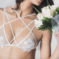 Floral Lace Strappy Bra