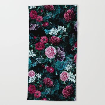 Night Garden VII Beach Towel by RIZA PEKER