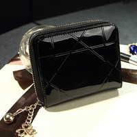 Famous Women's Purse Leather Fold Design Business Wallet Multifunction ID Credit Card Holder Purse CF