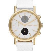 White Strap Link Watch by DKNY Online | THE ICONIC | Australia