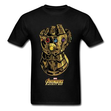 Gauntlet Like A Glove T Shirts Men T-shirt High Quality Avengers Tee Father Day Short Sleeve Tops 100% Cotton Thanos Clothing