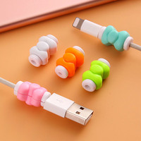 Hot Bowknot USB Cable Earphones Protector Colorful For Apple iPhone 4 5 5s 6 6s Plus