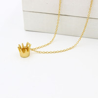 Stylish Jewelry New Arrival Shiny Gift Accessory Korean Crown Necklace [6056912129]