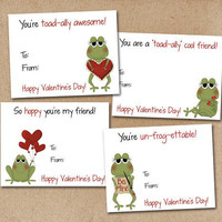 Kids Valentine Cards Frog Set of 24 by Luv2ScrapForU on Etsy