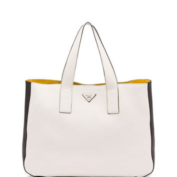 prada vitello daino east west tote
