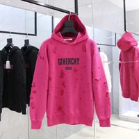 cc hcxx Givenchy Rose Red Hoodies