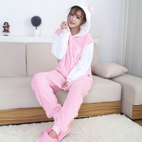 2017 New Women Pajama Flannel Unicorn Cartoon Cosplay Adult Unisex Homewear For Adults Animal Pajamas Adult-Unicorn-Pajamas Sets