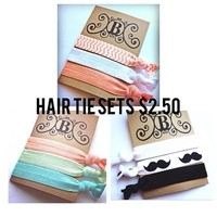 Pick One-summer Spring color Hair ties- set of 3 from Bowlicious Divas Bowtique