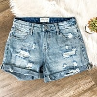 Mid-Rise Distressed Boyfriend Short