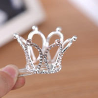 Bridal Wedding Crystal Rhinestone Crown Pageant Lead-tin Alloy Women Children Tiaras Hair Comb Headband For Girls 5219