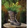Old West Cowboy Boot Garden Planter