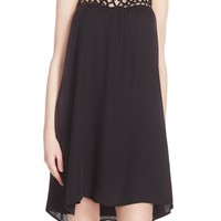 BB Dakota 'May' Crochet Yoke Swing Dress | Nordstrom