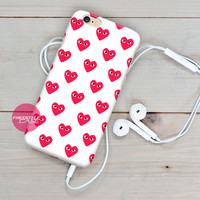 Comme Des Garcons Heart Pattern iPhone Case Cover Series