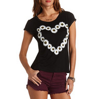 DAISY HEART GRAPHIC TEE