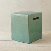 Cracked Glaze Ceramic Stool