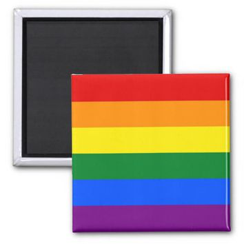 Magnet with LGBT Rainbow Flag