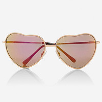 METAL HEART SUNGLASSES from EXPRESS