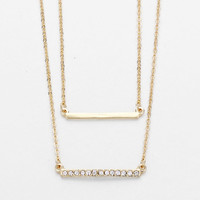 Double Strand Gold Layering Necklace
