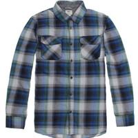 Vans Kepler Long Sleeve Flannel Shirt - Mens Shirts - Blue
