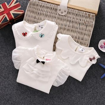 2018 Autumn Winter Children Clothes Baby Toddler Girls T Shirt Cotton Long Sleeve Girls Tee Tops T Shirt Toddler 0-6 Year JW6697