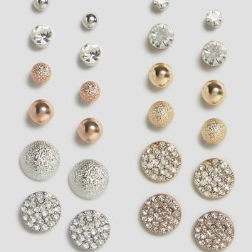 New Look 12 Pack Stud Pack Earrings