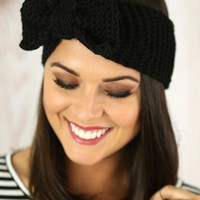 Top Knot Head Wrap in Black
