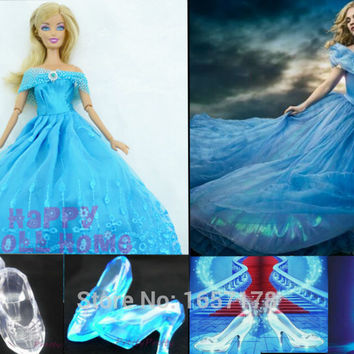 Princess Wedding Dress Fairy Tale Gown Copy Cinderella Dancing Ball Clothes Outfit For