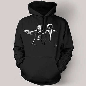 Pulp Fiction Jules & Vincent - High Quality Screen Printed Hoodie - Classic Quentin Tarantino Movie