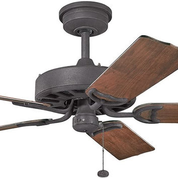 0-001464>Fryst Distressed Black Ceiling Fan