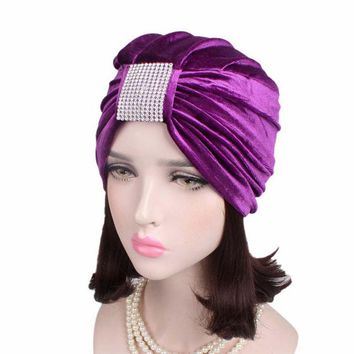new women Vintage bowknot Turban Hat Stylish Chemo cap Indian cap chemo bandana Wrap cancer hat Cap Chemo Hair accessories