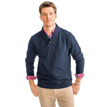 Buchthorn Shawl Collar Pullover in True Navy by Southern Tide