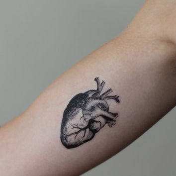 Anatomical Heart Temporary Tattoo