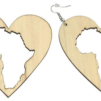 Motherland Love Earrings | Africa shaped | African| Natural hair | Afrocentric | jewelry | accessory