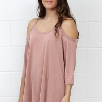 Comfort Modal Cold Shoulder Basic {L. Brick}