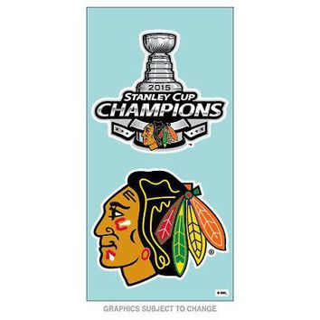 Licensed Chicago Blackhawks 2015 Stanley Cup Champs Perfect Cut Car Decal 2-Pack 097439 KO_19_1