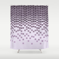 Pixel Rain Shower Curtain by Budi Satria Kwan