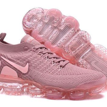 DCCK2 N345 Nike Air Vapormax Flyknit 2 Casual Running Shoes Pink