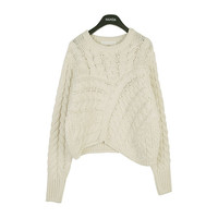 Thread Twisted Knit Top