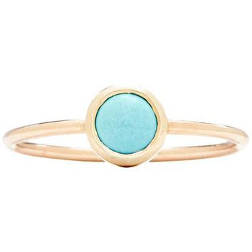 Gemstone Stacking Ring With Turquoise