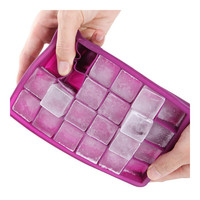 Silicone Mold Ice Cube Container Ice Tray Ice-making Box  rose red