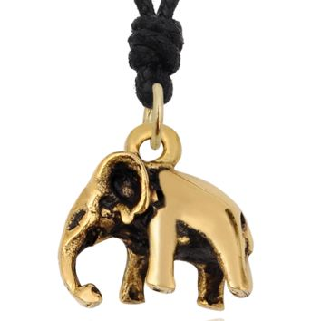 Burmese Elephant 92.5 Sterling Silver Gold Brass Charm Necklace Pendant Jewelry