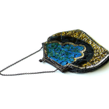 Antique French Art Deco Sequin Clutch