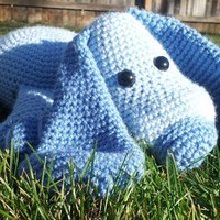 Amigurumi Blue Puppy - Stuffed Animal Squishy
