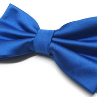 Mens Bowtie. Royal Blue Bowties. Ultramarine Bow tie With Matching Pocket Square Option