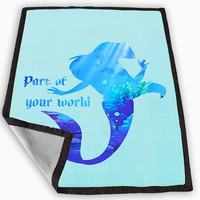 Ariel Quote Little Mermaid Disney Blanket for Kids Blanket, Fleece Blanket Cute and Awesome Blanket for your bedding, Blanket fleece *