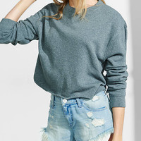 Express One Eleven Long Sleeve Cropped Sweatshirt from EXPRESS