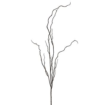 "Plastic Curly Willow Branch in Brown - 46.5"" Tall"