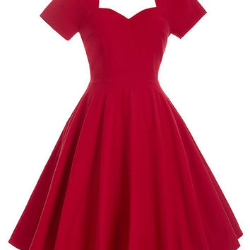 Belle Poque 1950s 60s Red Rockabilly Dress Robe Sexy Tunic Retro Vintage Womens Summer Dresses 2017 Summer Plus Size Clothing