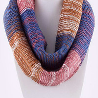 Navy and Pink Infinity Scarf