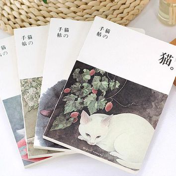 DCCKL72 Cute Cat notebook A5 size 120 sheets diary Japanese zakka book Stationery Office accessories School supplies F865